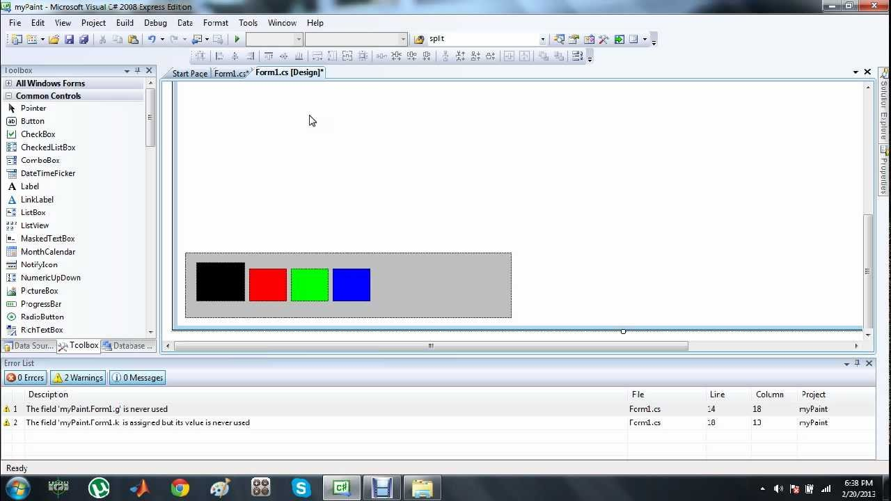 How To Make Your Own Paint Application In C Tutorial 2