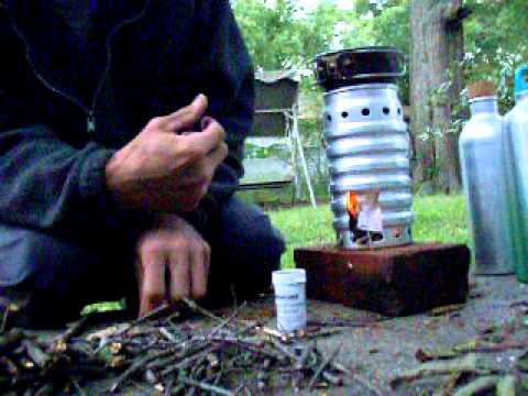 swiss army volcano stove part 1