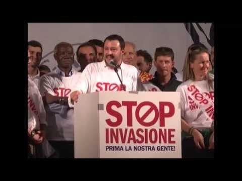 STOP INVASIONE - INTERVENTO DI MATTEO SALVINI (MILANO 18102014...