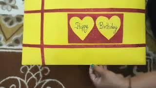 Beautiful Handmade card for husband's birthday