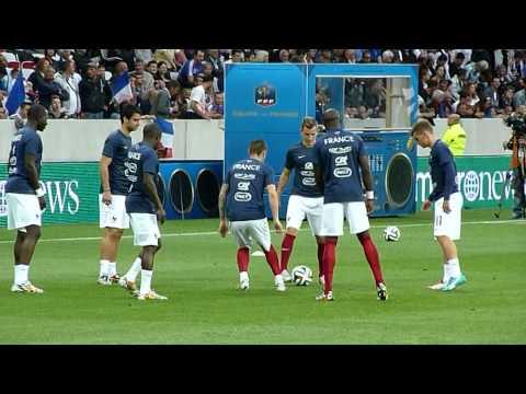 Antoine Griezmann, Mathieu Debuchy, Lucas Digne, Eliaquim Mangala a Nice