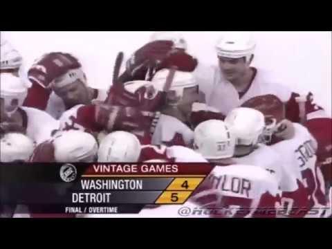 5 голов Сергея Фёдорова в составе Детройт Ред Уингз против Washington Capitals