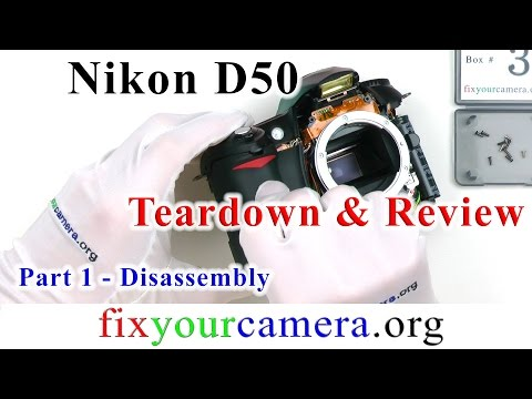 Nikon D50 Teardown & Review *Part 1/4* Disassembly - How it works / older Nikon DSLR quality...
