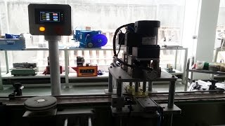 croatian customers machines testing jars inline screw capping machinery automatic manual caps feeder