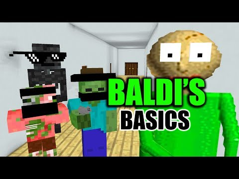 Monster School : BALDI'S BASIC CHALLENGE - Minecraft Animation