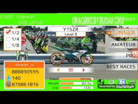 Drag bike by budak ciku superkip vs superkip      Rxz catalyzer vs Rxz millie