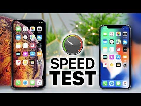 iPhone XS Max vs iPhone X SPEED Test!