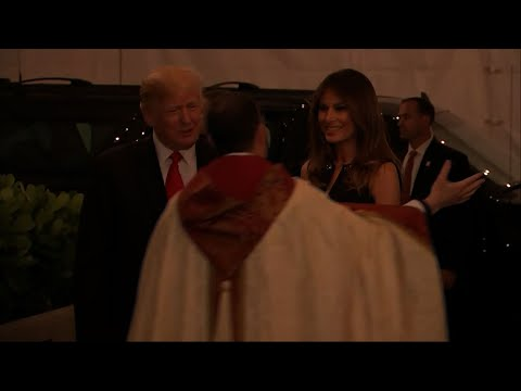 Raw: President Trump Attends Midnight Mass