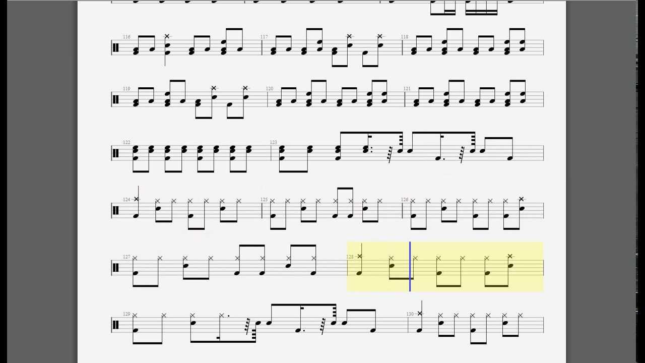 enter sandman drum tab - YouTube