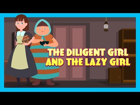 THE LAZY GIRL - MORAL STORY FOR KIDS || KIDS HUT STORIES - ANIMATED STORIES FOR KIDS