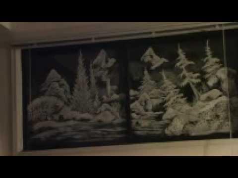 Paintings Scenes Through Windows Window Painting Christmas