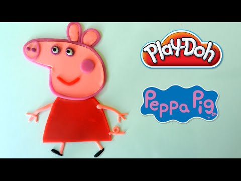 Play Doh Peppa Pig - How To Make PEPPA PIG out of Playdough