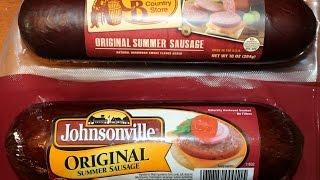 Summer Sausage Blind Taste Test: CB (Cracker Barrel) Old Country Store vs Johnsonville
