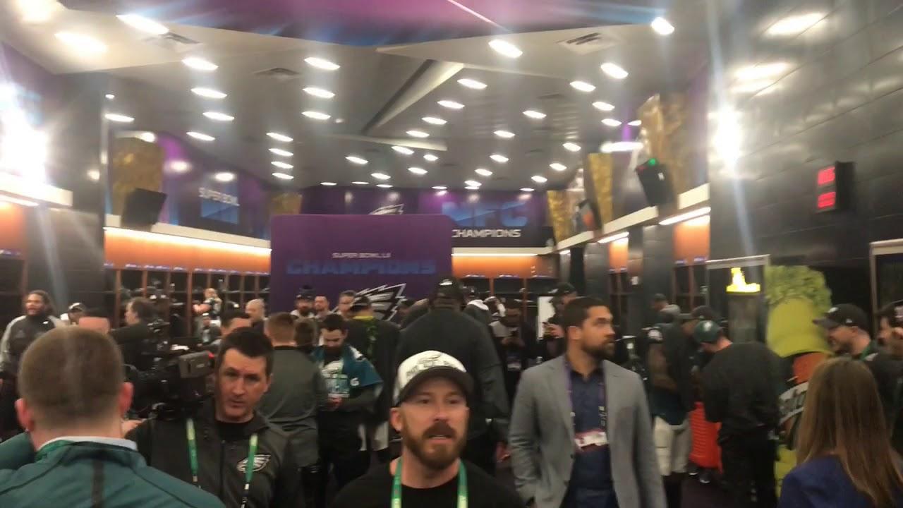 Super Bowl 2018: Eagles celebrate in locker room