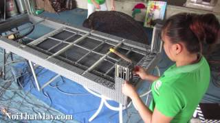 Sản xuất Ghế Hồ Bơi Giả Mây với khung inox 304 dày 1,2mm