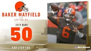 #50: Baker Mayfield (QB, Browns) | Top 100 Players of 2019 | NFL