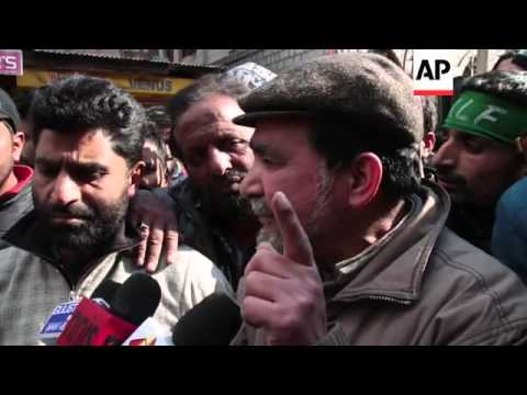 Protests and strike in Indian Kashmir over Charlie Hebdo cartoons