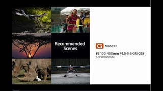 Sony | Lens | FE 100-400mm F4.5-5.6 GM OSS | Lens Expert Tips