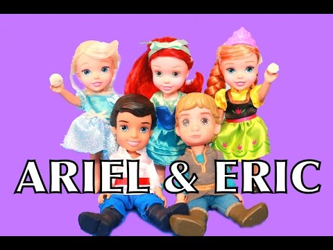 ARIEL & ERIC Play-Doh Little Mermaid Toddler Dolls My First Disney Frozen Elsa Anna AllToyCollector