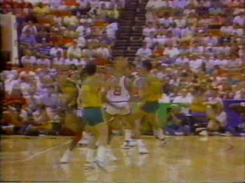 Brasil x EUA - Basquete - Final do Pan 1987 - NA ÍNTEGRA - PARTE 08