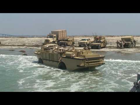 United States Navy ACU 1 and BMU 1 - Anti-Broaching Line Training Exercise