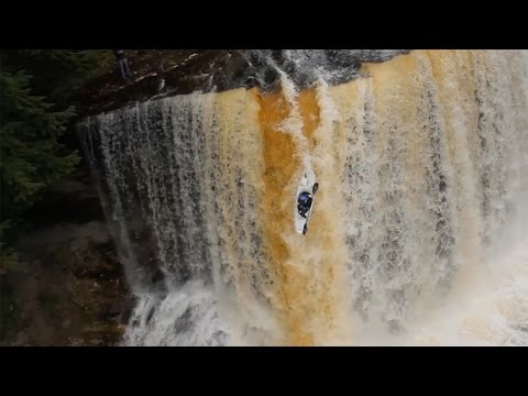 Kayaker Plunges 50ft Over Waterfall