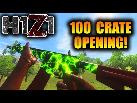 Opening 3 Ultra Rare Skins! New H1Z1 Payload Crate! Toxic AR15, Harvester Mask! (100 Crates)