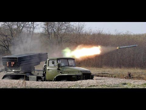Обстрел ГРАДом украинской территории с территории РФ (предположительно)