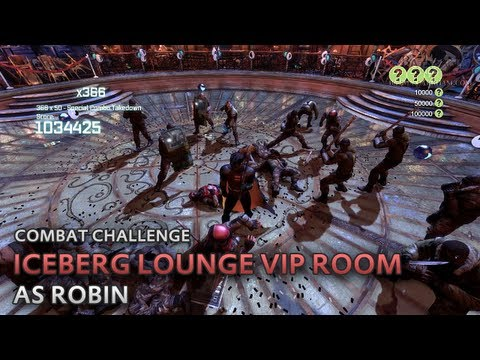 Batman: Arkham City - Iceberg Lounge VIP Room [as Robin] - Combat Challenge