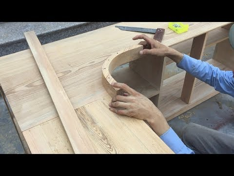 Woodworking Technology Curved Wood - How To Make Logs Curved Wood, Finishing Kitchen Cabinets