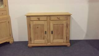 French Antique Low Cupboard / Ideal for TV - Pinefinders Old Pine Furniture Warehouse
