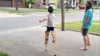 5 year old Stilt Walker