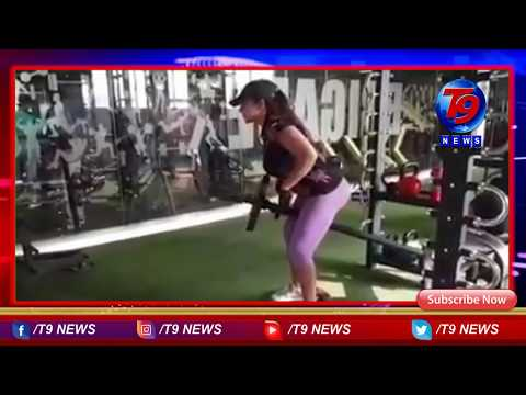sri reddy fitness workout at gym | sri reddy latest | #t9news live telugu