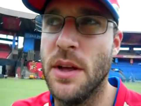 Daniel Vettori is back in Bangalore.flv