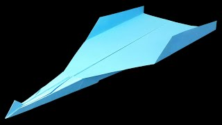 How to make the BEST PAPER AIRPLANE in the world that FLIES 100 FEET - EASY | Metaphor