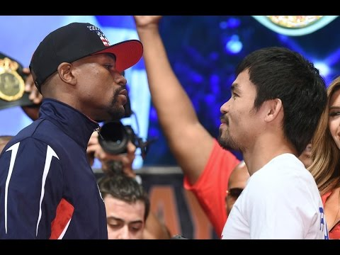 Floyd Mayweather Jr.-Manny Pacquiao weigh-in