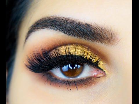 Huda Beauty Textured Rose gold Eyeshadow Tutorial - Sal_Qu - YouTube