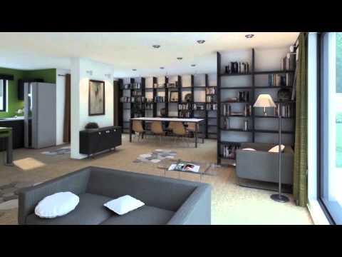 visite virtuelle d 39 une maison ctvl gamme contemporaine youtube. Black Bedroom Furniture Sets. Home Design Ideas