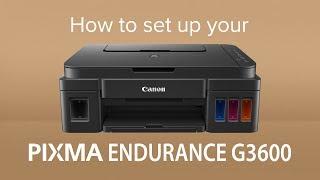 How to set up the Canon PIXMA G3600 MegaTank
