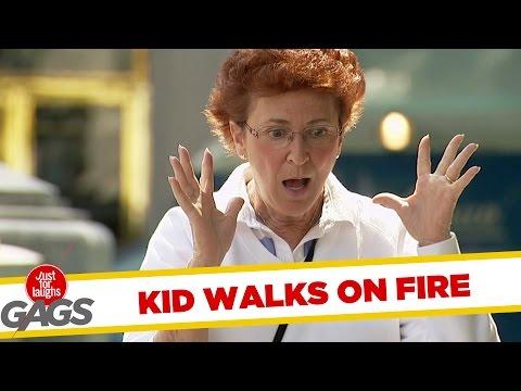 Kid Becomes Instant Firewalker