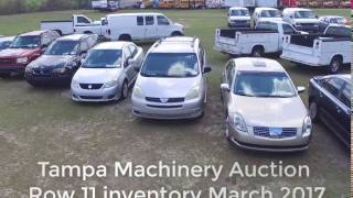 Tampa Machinery Auction Row 11 Inventory March 11th, 2017