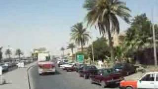 Keven Dagit driving through Iraq