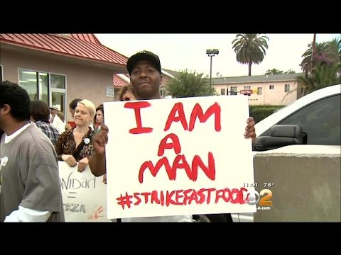 Fast-Food Workers Protest To Raise Minimum Wage To $15 An Hour