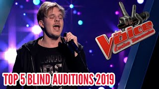 TOP 5 - THE VOICE ČESKO SLOVENSKO 2019 Blind Auditions
