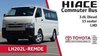 Toyota Hiace Commuter Bus 3.0L Diesel - 15 seater - LHD