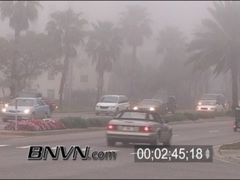 1/13/2006 Afternoon coastal fog video, Sarasota FL PM Coastal Fog