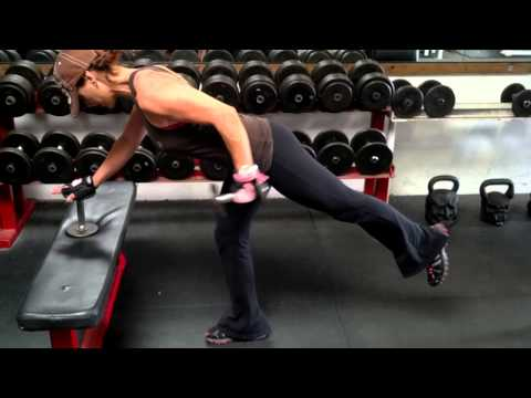 One Leg Balanced Triceps Kick Back