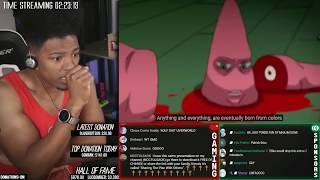 Etika Reacts To SpongeBob SquarePants Anime OP 1 (Etika Stream Highlight)