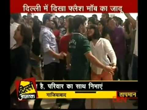 International Zouk Flash Mob 2012 - DELHI (INDIA) - News Coverage on Aajtak TV Channel