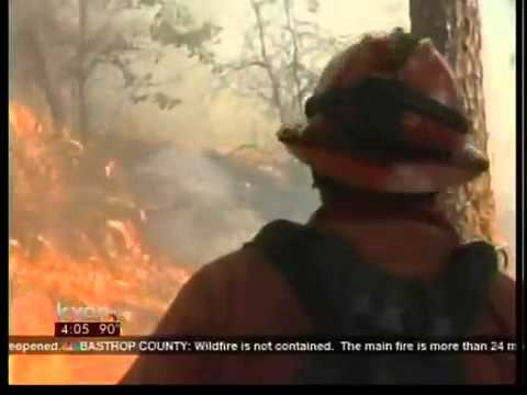 Inside The Historic Bastrop, TX Wildfire - 9/6/11